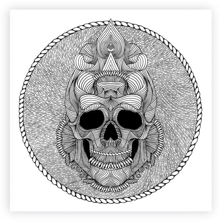 VOODOO SKULL Voodoo Skull Drawing