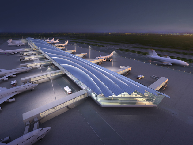 Bangkok Suvarnabhumi International Airport Satellite Concourse 2013 Otc Planning Design